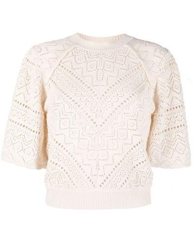 Хлопковая блузка с вырезом круглая Ba&sh