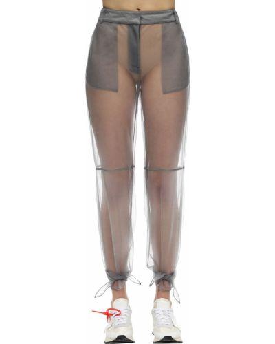 Spodnie z nylonu z siateczką Off-white