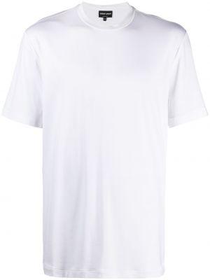 Biały t-shirt bawełniany krótki rękaw Giorgio Armani