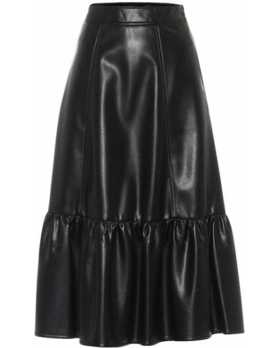 Черная юбка миди из вискозы Philosophy Di Lorenzo Serafini