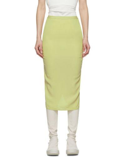 Zielony spódnica mini z wiskozy z kieszeniami Rick Owens