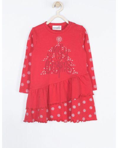 Платье с принтом хлопковое Coccodrillo
