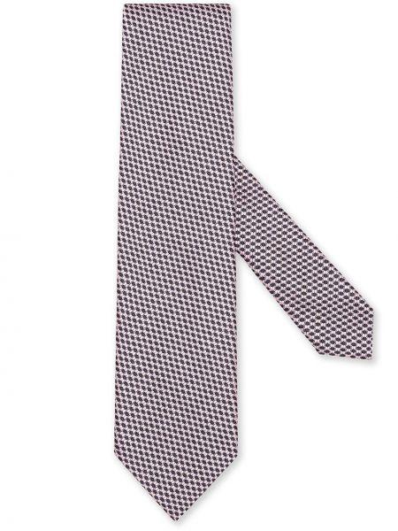 Krawat z jedwabiu - różowy Ermenegildo Zegna