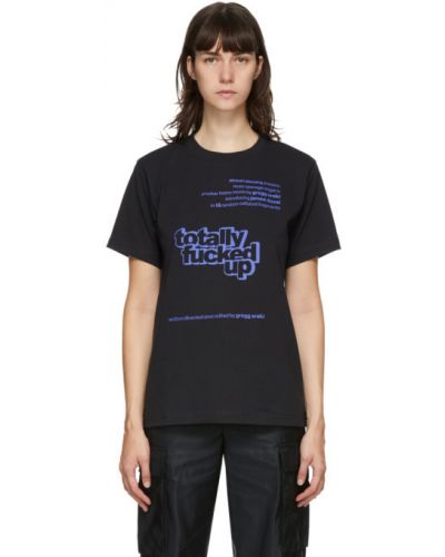Черная рубашка с короткими рукавами с воротником Marc Jacobs