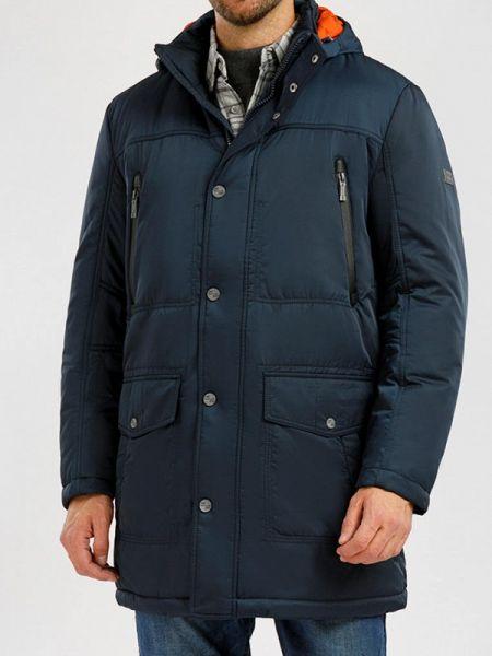 Свободная теплая синяя утепленная куртка свободного кроя Finn Flare