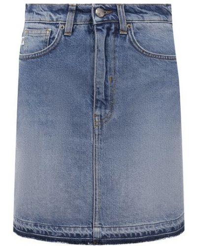 Хлопковая синяя джинсовая юбка Two Women In The World