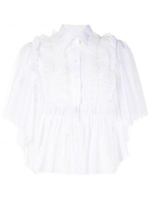 Хлопковая белая классическая рубашка с короткими рукавами Viktor & Rolf