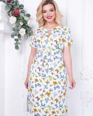 Летнее платье с поясом на резинке Diolche
