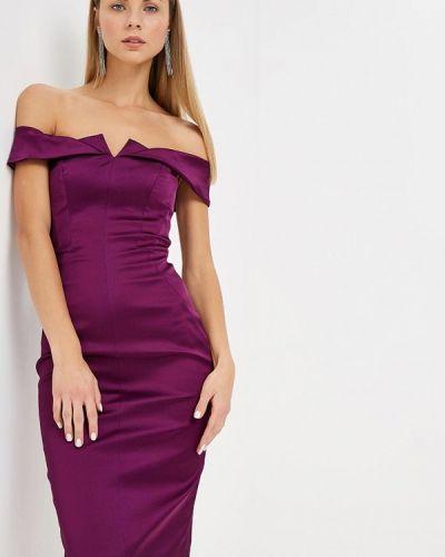 Вечернее платье осеннее фиолетовый Karen Millen