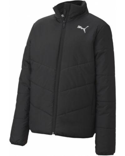 Черная теплая куртка с надписью Puma