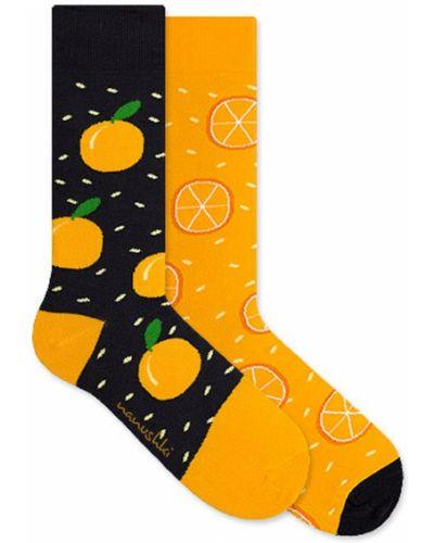 Разноцветные носки - оранжевые Nanushki