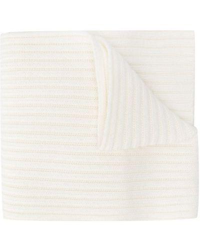 Biały prążkowany z kaszmiru szalik Chloé Kids