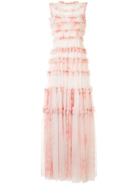 Платье макси розовое из фатина Needle & Thread