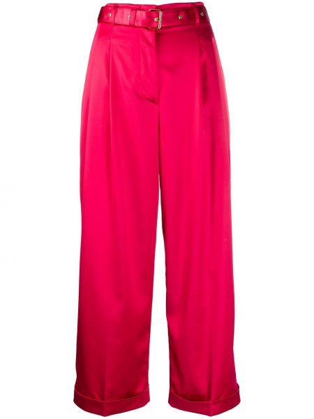 Красные укороченные брюки с карманами с манжетами с высокой посадкой Peter Pilotto