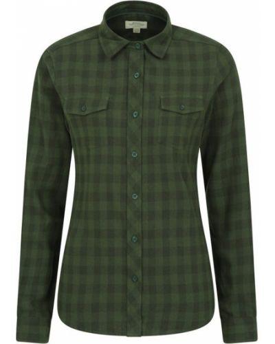 Flanelowa koszula - zielona Mountain Warehouse