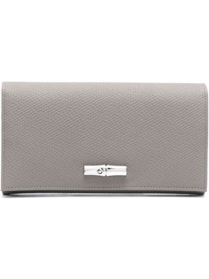 Кожаный кошелек - серый Longchamp