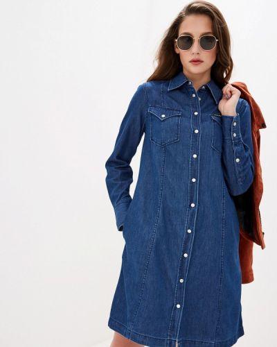 Джинсовое платье осеннее синее Calvin Klein Jeans