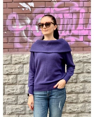 Шерстяной свитер - фиолетовый Uniqlo