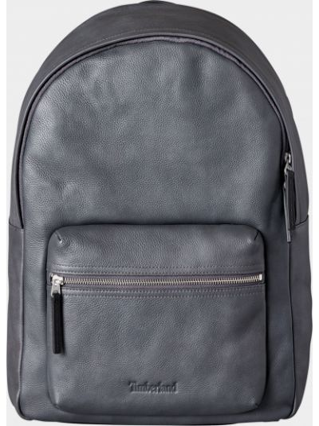 Синий кожаный рюкзак для ноутбука с карманами Timberland