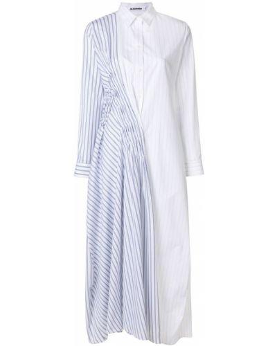 Платье платье-рубашка в полоску Jil Sander