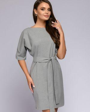 Платье мини повседневное с поясом 1001 Dress