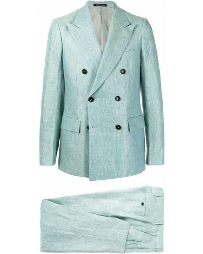 Zielony garnitur z paskiem z długimi rękawami Emporio Armani