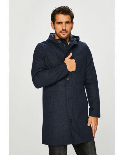 Шерстяное пальто - синее Tokyo Laundry
