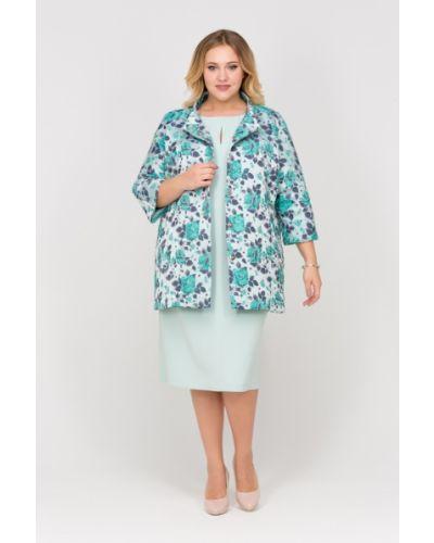 Пальто на кнопках с воротником-стойкой трапеция Intikoma