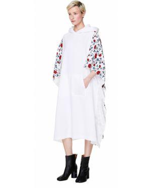 Платье с цветочным принтом с капюшоном Y`s