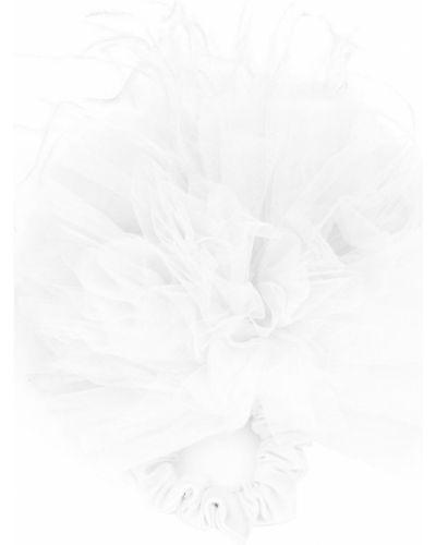 Белая резинка для волос на резинке с декоративной отделкой из фатина Styland
