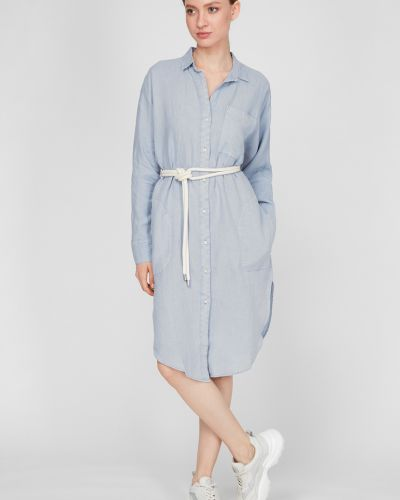 Льняное платье-рубашка Replay