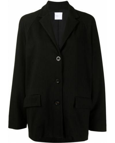 Хлопковый черный удлиненный пиджак на пуговицах Rosetta Getty