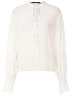 Шелковая блузка - белая Eva