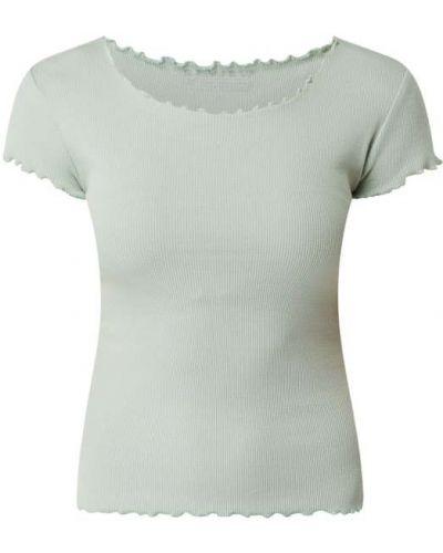Prążkowany zielony t-shirt bawełniany Review