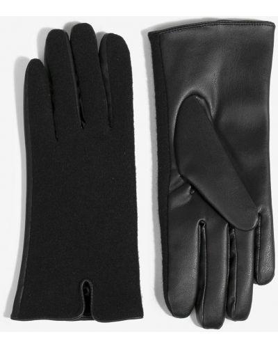 Кожаные перчатки текстильные шерстяные Parfois