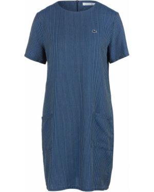 Платье мини синее свободного кроя Lacoste