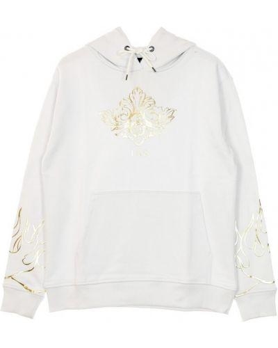 Biała bluza z nadrukiem z printem Ihs