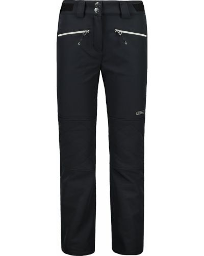 Czarne spodnie eleganckie materiałowe Trimm