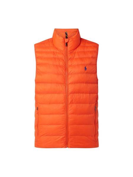 Pomarańczowa kamizelka pikowana bawełniana Polo Ralph Lauren
