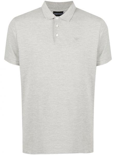 Koszula krótkie z krótkim rękawem klasyczna z logo Emporio Armani