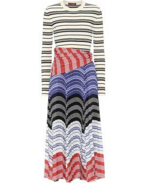 Платье миди в полоску с нашивками Altuzarra