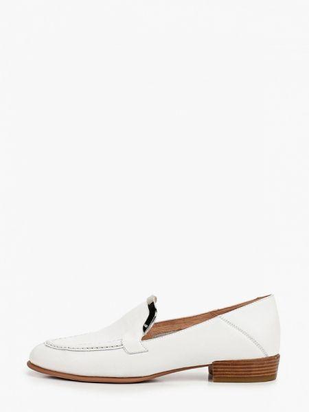 Кожаные белые лоферы Graciana