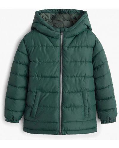 Куртка теплая зеленый Mango Kids