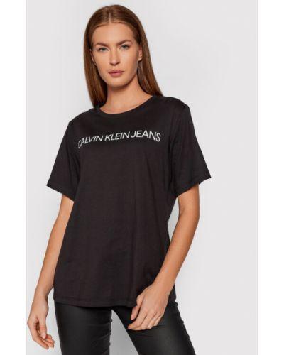 T-shirt - czarna Calvin Klein Jeans Plus