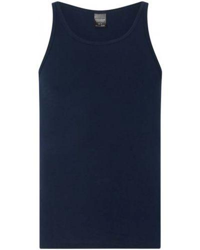 Niebieski top bawełniany Schiesser