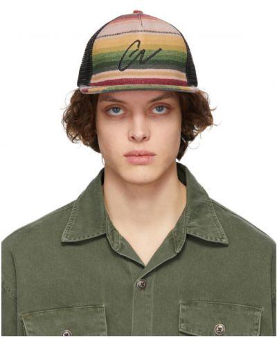 Czarna czapka z siateczką w paski Greg Lauren