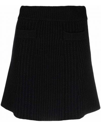 Шерстяное платье миди - черное Blumarine
