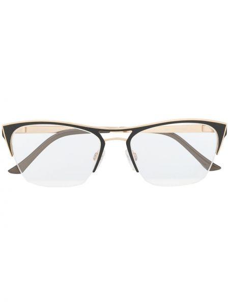 Złote oprawka do okularów - khaki Cazal