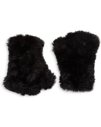 Rękawiczki bez palców - czarne Saks Fifth Avenue