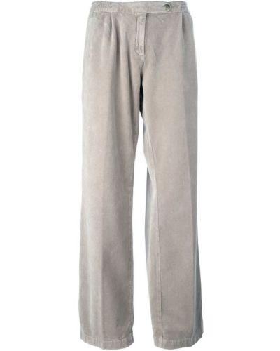 Бежевые брюки хлопковые Massimo Alba